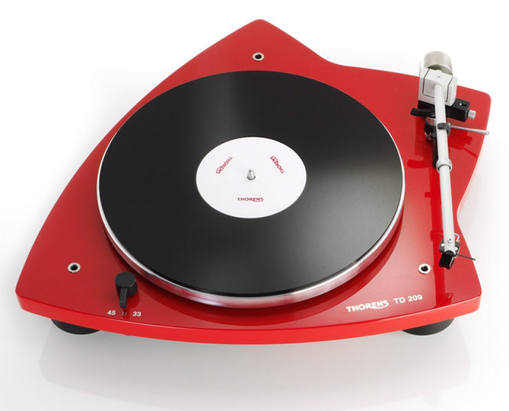 Thorens TD-209 Röd pianolack