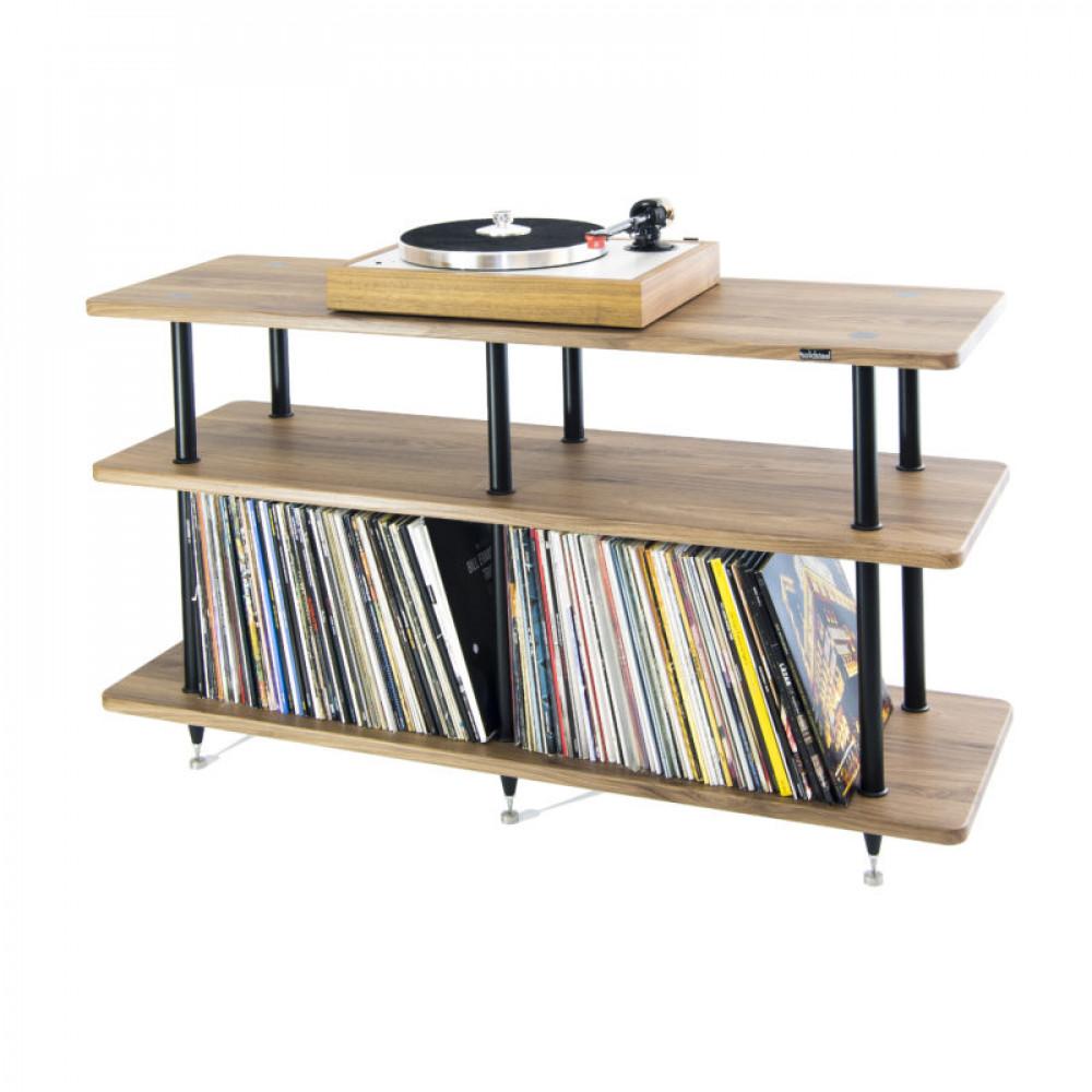 Solidsteel VL-3 Vinyl Storage Rack Black/Walnut
